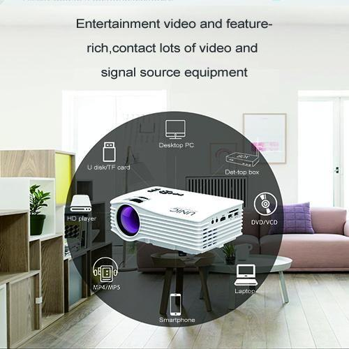 Unic LED UC36 Portable with HDMI Support 3D Movies-White