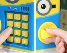 Load image into Gallery viewer, Minions Style Money Safe ATM Secret Password Enabled Piggy Bank