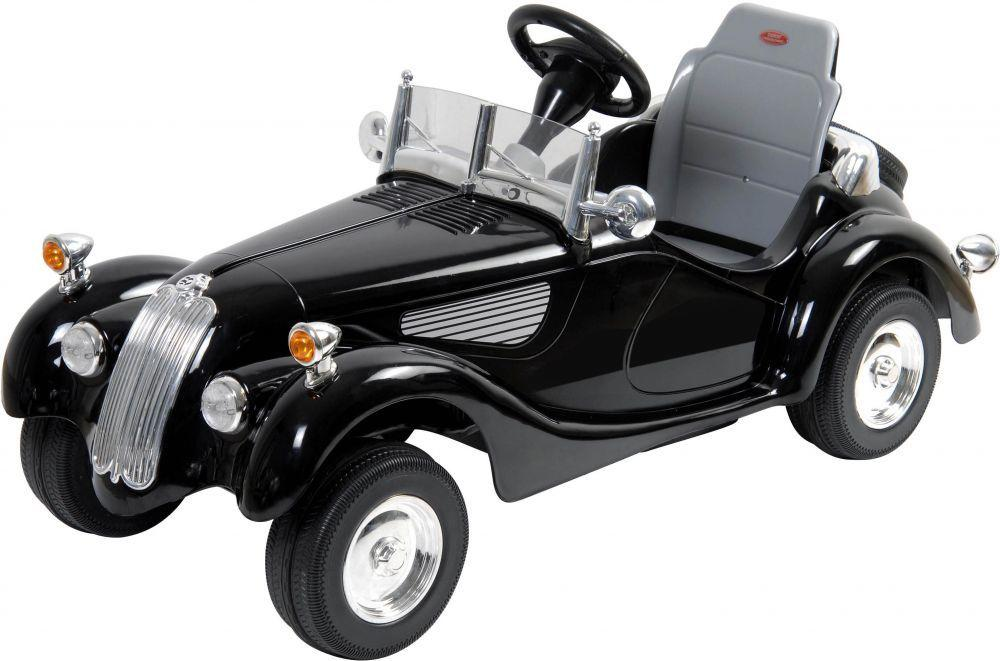 Vintage Style Battery Powered Ride On Car, Black