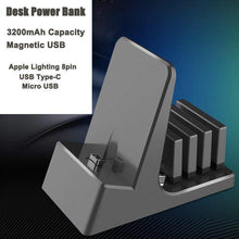 Load image into Gallery viewer, Desk Power Bank - Magnetic USB Charger Dock