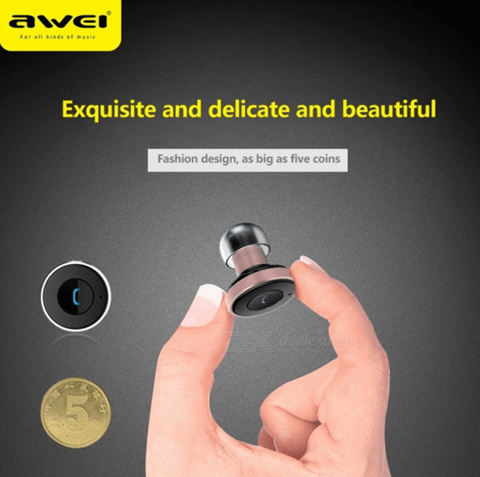 AWEI A870BL Headset 2 in 1 Multi-function Bluetooth V4.0 Hands-free Call 5V 2.1A USB Car Charger - SquareDubai
