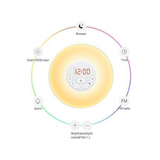 Wake Up Light, Smart Alarm Clock With Sunrise Simulation For A Natural Wake up