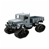 RC Military Truck Army 1:16 4WD Tracked Wheels Crawler Off-Road Car RTR Toy NEW