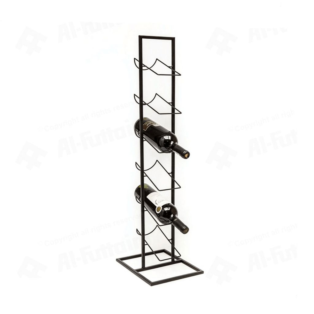Home Styling Metal 6-Bottle Beverage Rack (84 x 22 cm, Black)