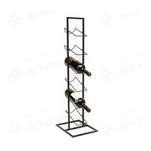 Load image into Gallery viewer, Home Styling Metal 6-Bottle Beverage Rack (84 x 22 cm, Black)