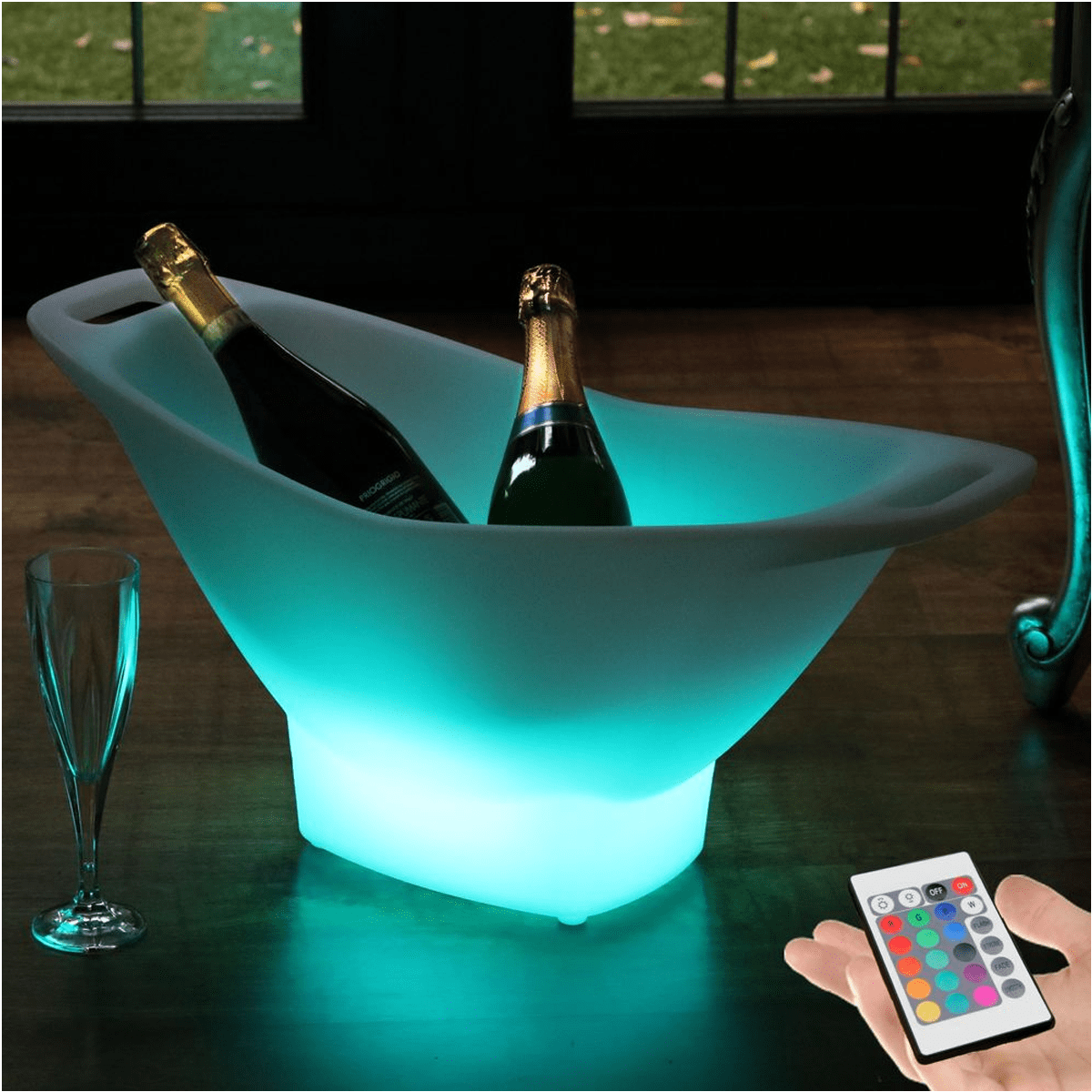 LED Rechargeable Ice Bucket Large