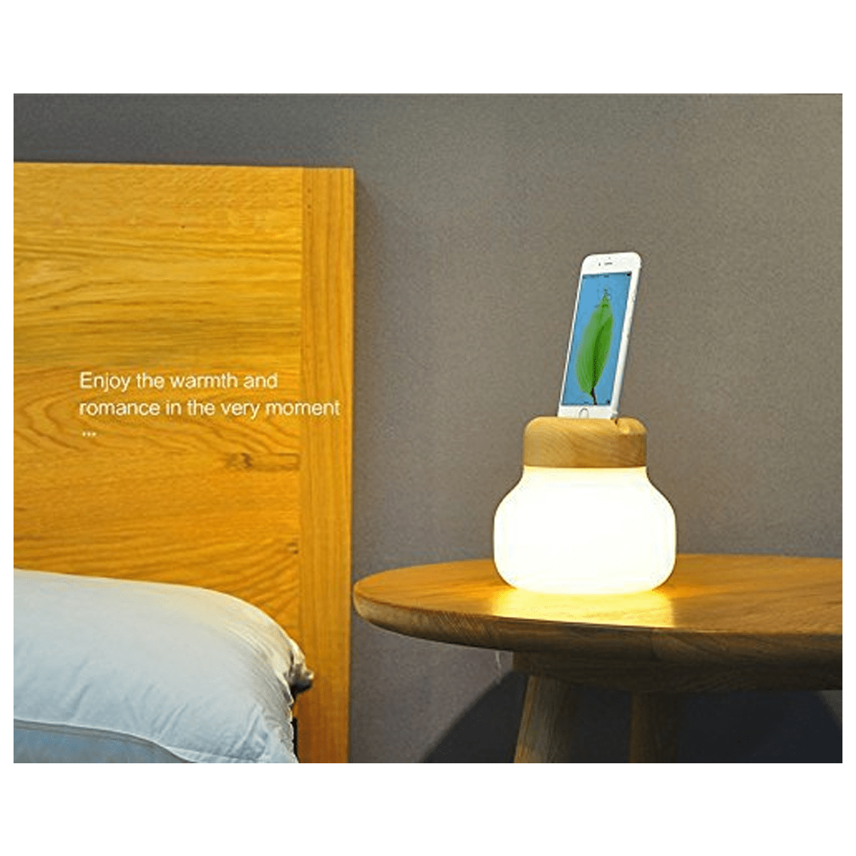 IDMIX x ZISION LED Atmosphere Table Lamp and iPhone Power Bank
