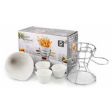 French Fries Holder With 3 Dip Dishes