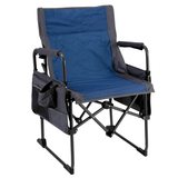 Director Steel Folding Chair (Gray/Blue)