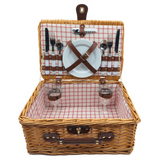 2-Person Willow Picnic Basket (Beige)