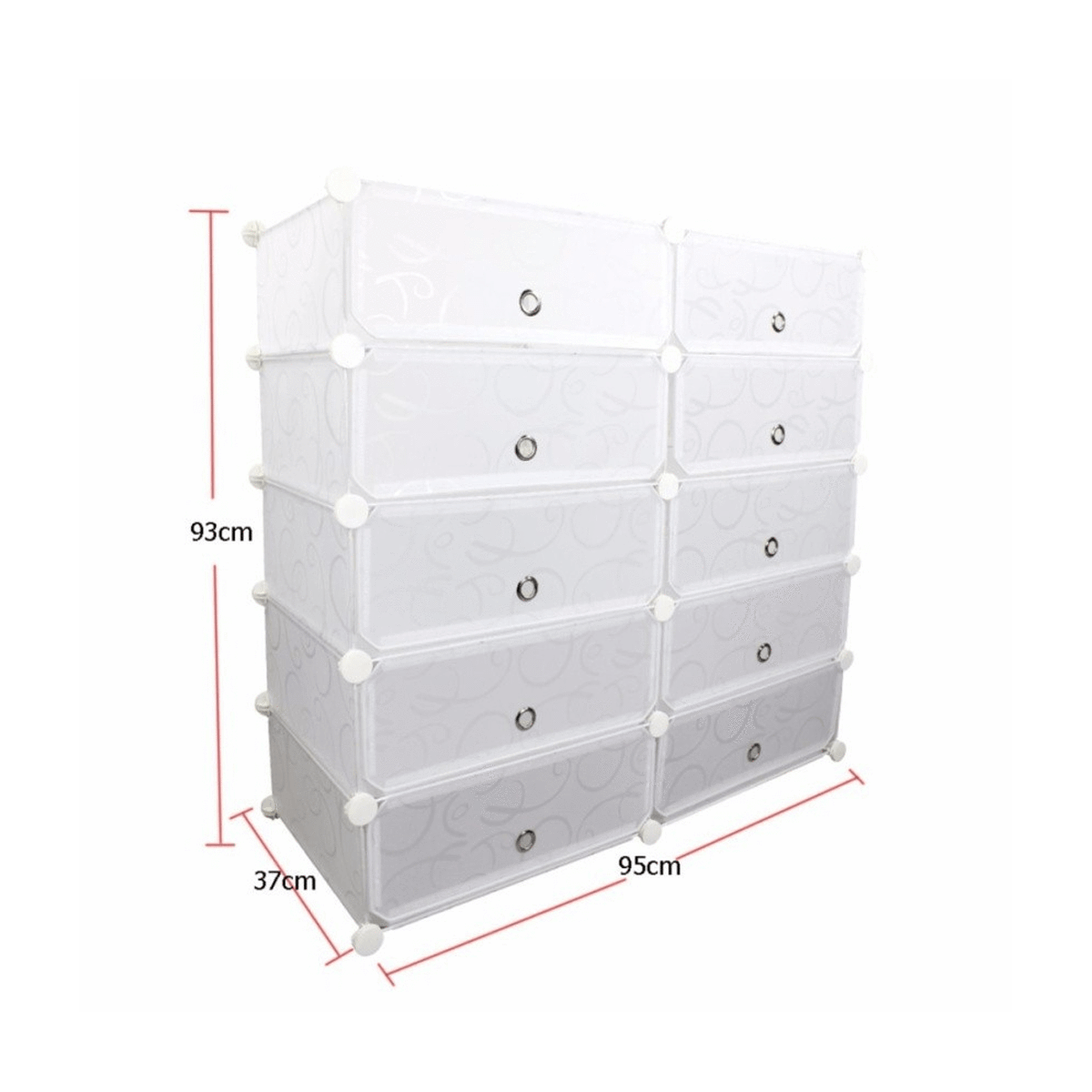 Plastic Shoe Cabinet DIY White