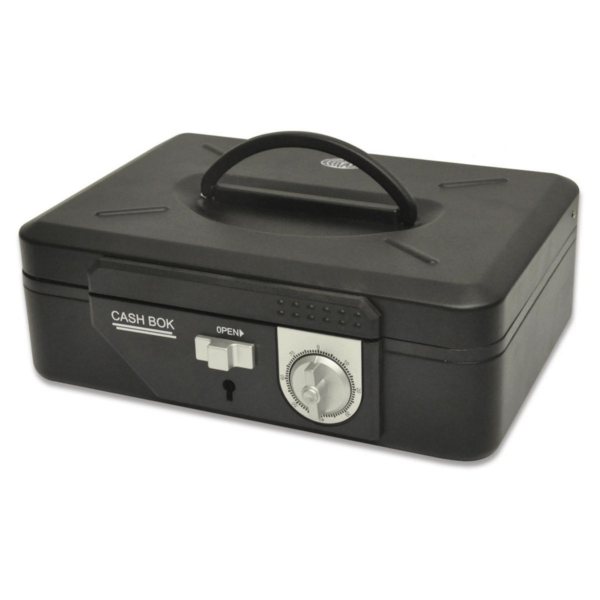 Cash Box Steel Black Color With Number / Key lock