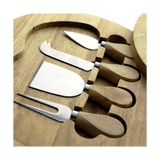 Cheese Cutter Set 5 Piece with Wooden Board - SquareDubai