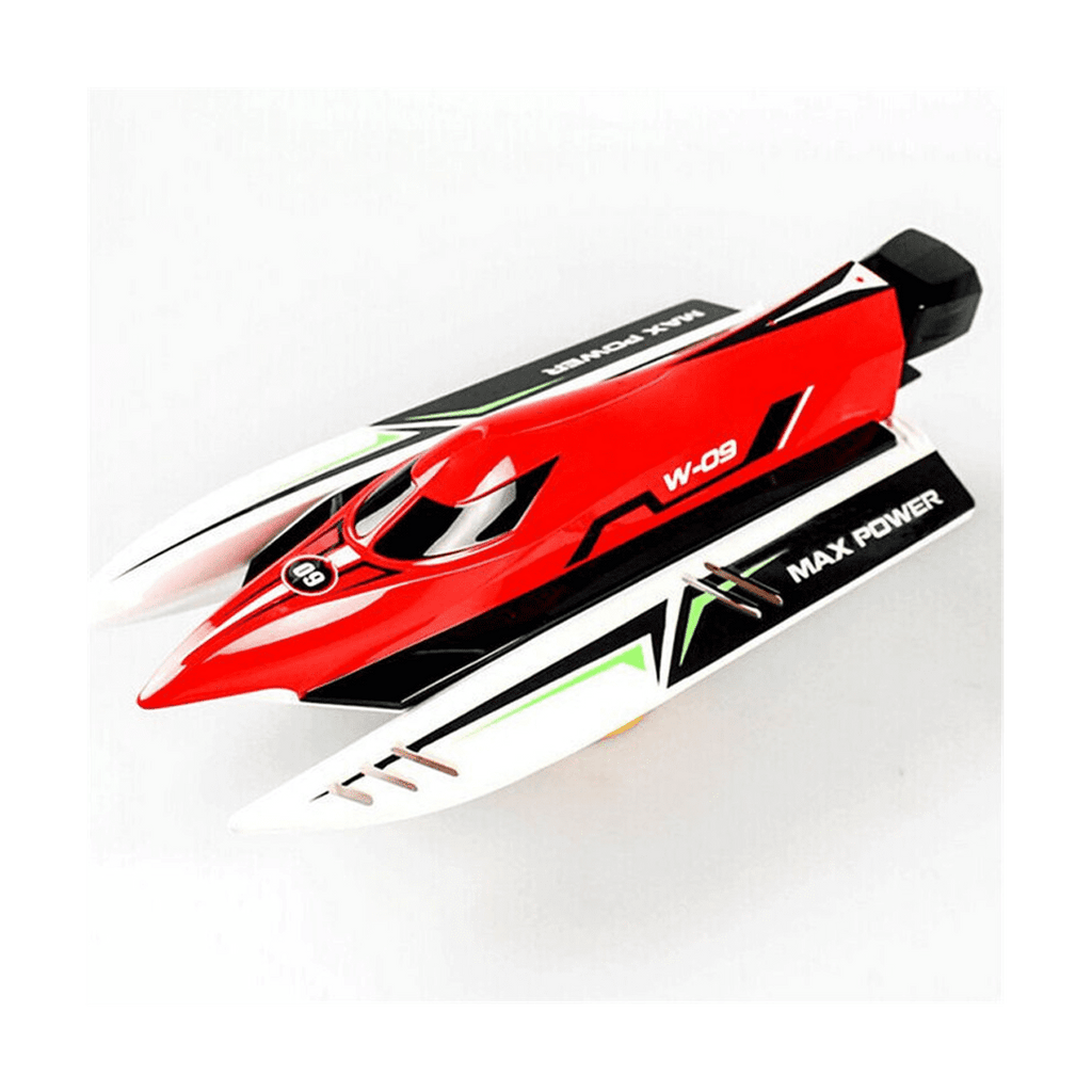 Wltoys Speed Boat Remote Control High Speed 45KMH - 2.4GHZ - Rc Boat - Red Color