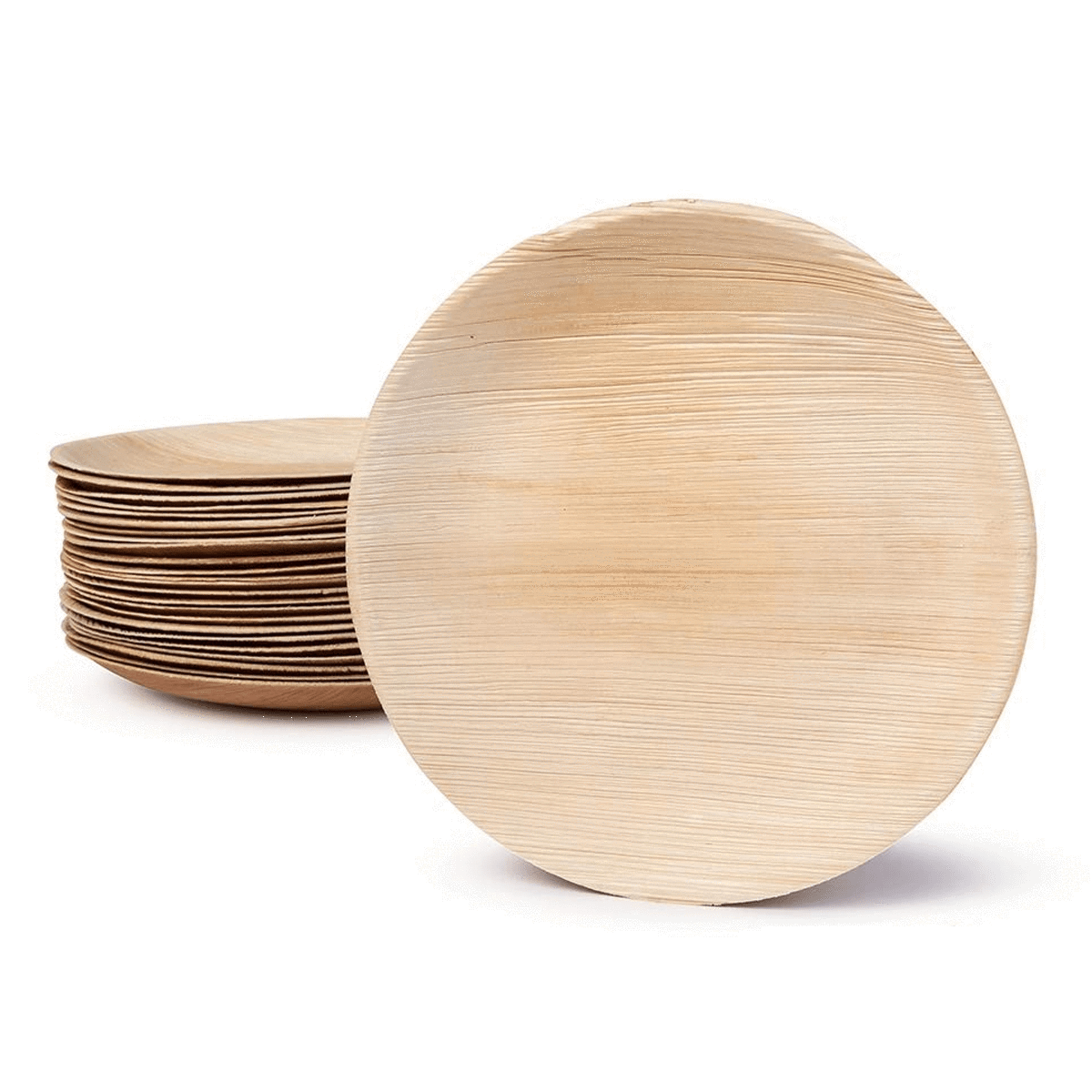 Round Disposable Palm Leaf Plates - 10 Piece Pack