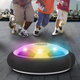 Hover Ball Game with LED Light Up Toys Children Christmas Gift (2 Gates and18x DIY Sticker Gift)