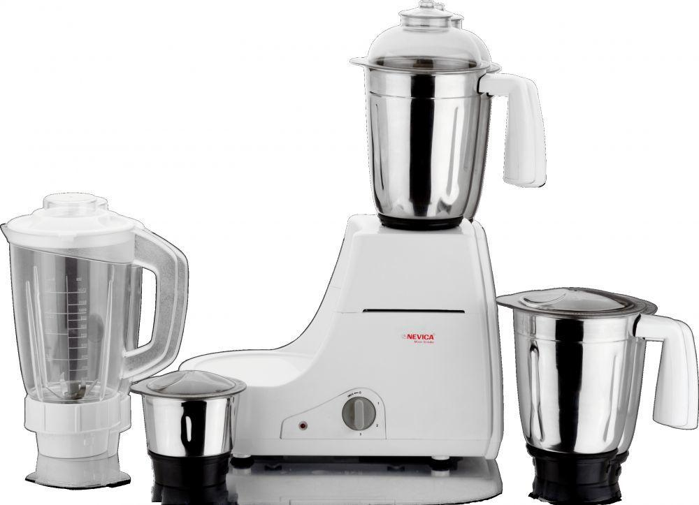 Nevica Stainless Steel Indian Mixer Grinder-4 Jars-750w - Nv-653ss