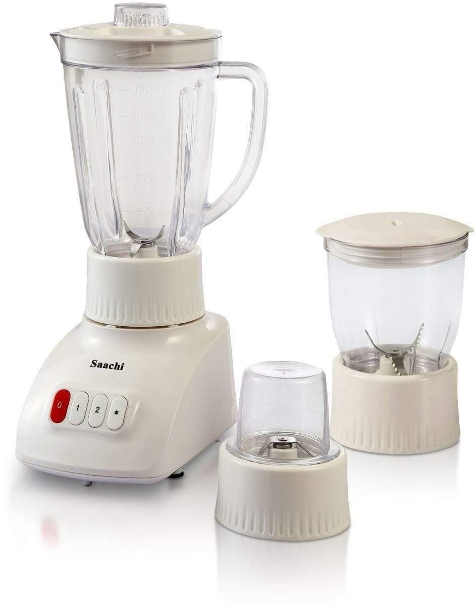 3 in 1 with Unbreakable Jar Countertop Blender White - SquareDubai