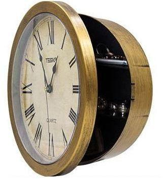 Hidden Secret Wall Clock Safe Container Box for Money Stash Jewelry Valuables Cash Storage