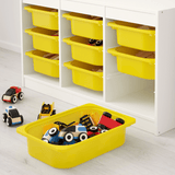 TROFAST Storage combination with boxes, white, yellow