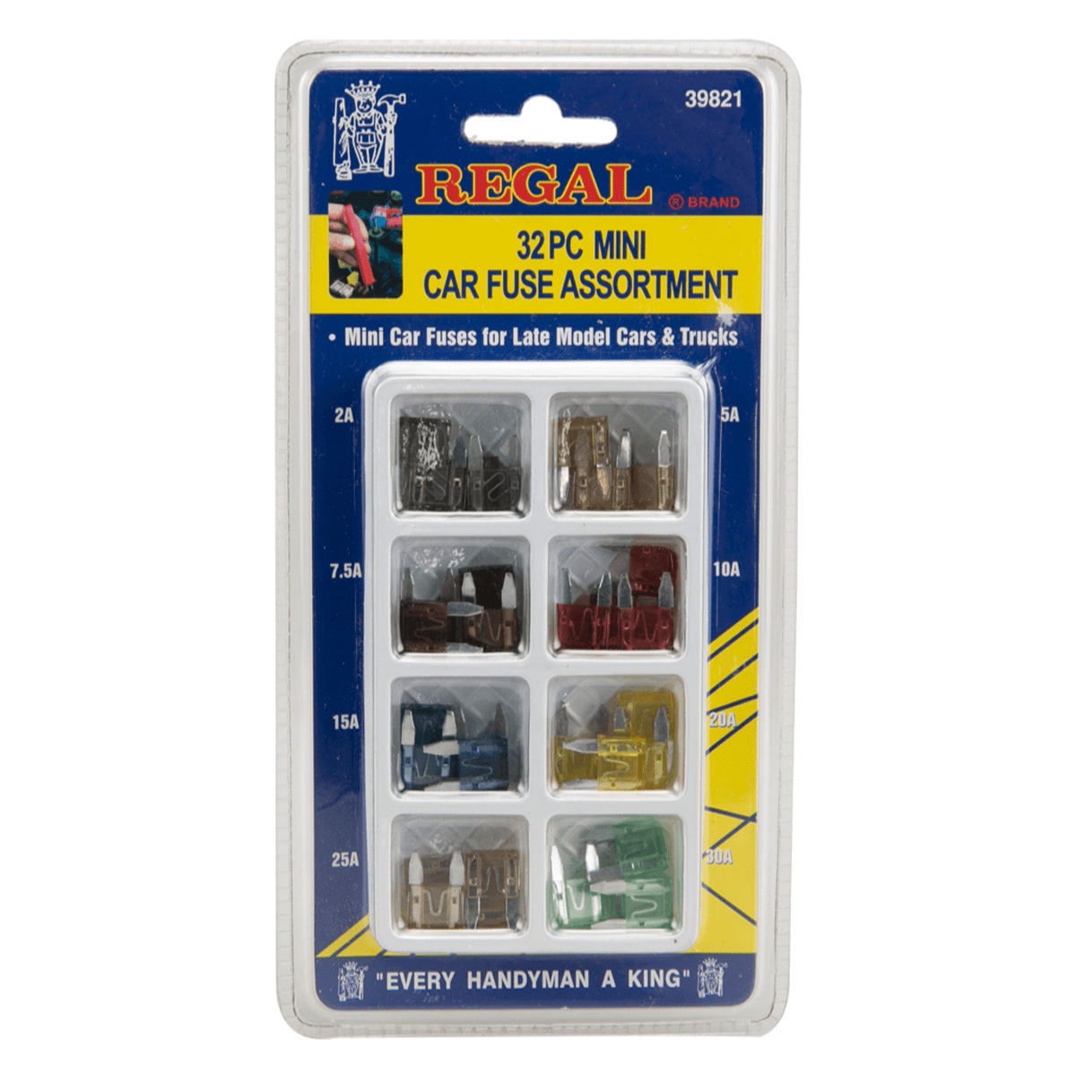 Regal Mini Car Fuse Assortment Kit (32 pc)