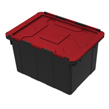 Load image into Gallery viewer, Hinged Industrial Tote with Lid 45.4 Ltr