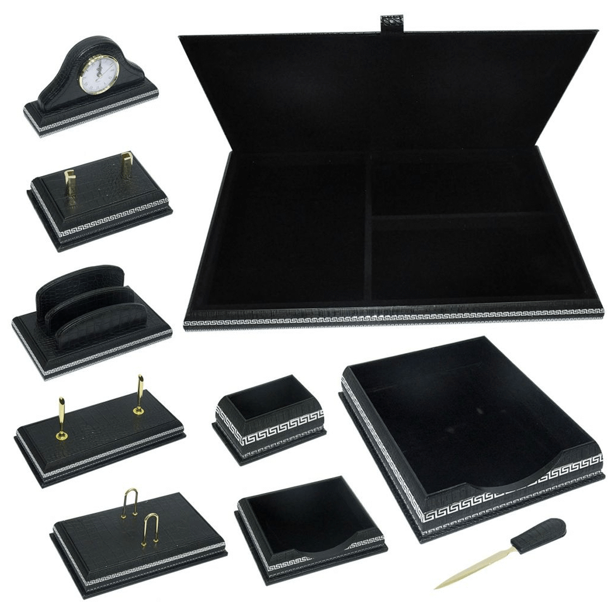 PU Desk Set, Set 10 Pieces - FSDSW398