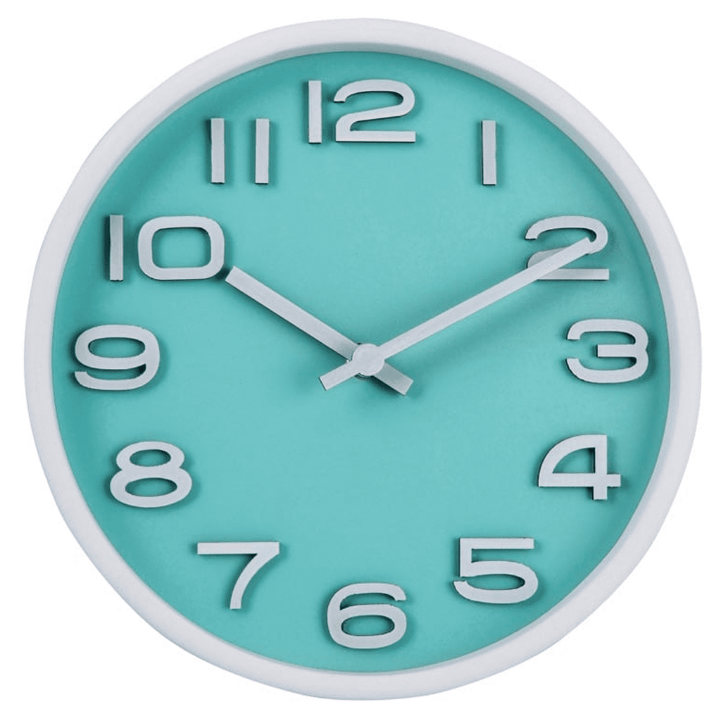 Zhanjiang Z Natural Wood Table Clock (Teal)
