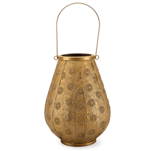 Load image into Gallery viewer, Golden Glamour Metal Moroccan Style Lantern (Gold, 20 x 42 cm)