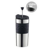 Bodum Stainless Steel Vacuum Travel Press with Extra Lid