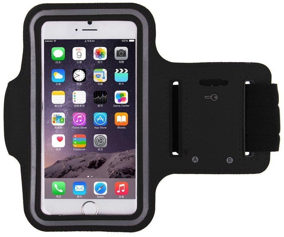 Black Sports Running Jogging Gym Armband Arm Band Case Cover Holder for iPhone 6/iPhone 6S 4.7 - SquareDubai