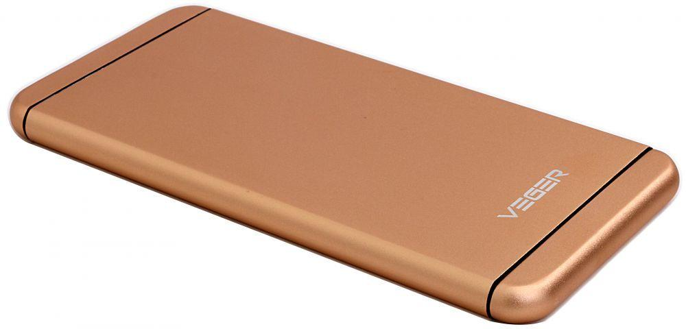 Power Bank 10,000 mAh by Veger for smart phones, Gold, V55