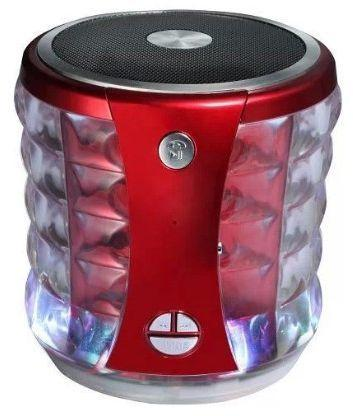 Mini Portable Colorful Flashing Wireless Bluetooth Speaker (T-2096A) ̴̐ Red