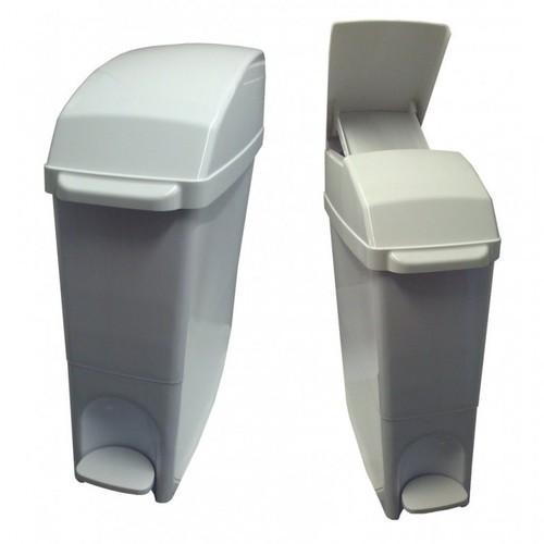 Pedal Operated Sanitary Bin, 22L, White