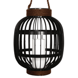 Solar Plastic Basket Lantern with Candle (Large)