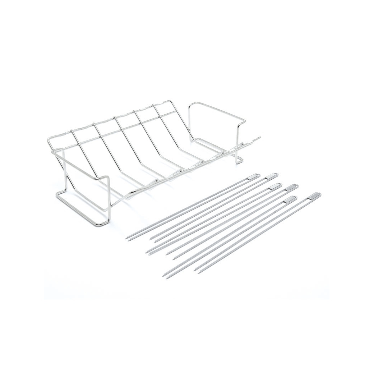 Broil King Multi Rack and Skewer Kit (9.5x35x39.5cm, Stainless Steel) - SquareDubai