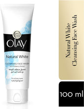 Load image into Gallery viewer, Olay Natural White Cleansing Face Wash For All Skin Types 100 ml