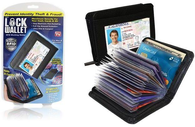 Lock Wallet - RFID Blocking Wallets for Men and Women