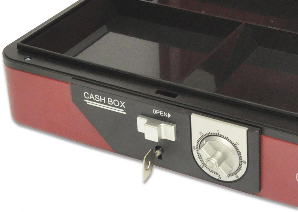 Cash Box Steel Red Color With Number / Key lock