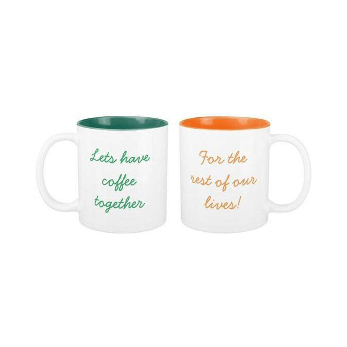 Let's have Coffee together, for the rest of our lives Two-tone Couple Mugs