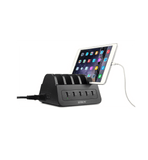 LVSUN 60W 5-port desktop high speed usb charger with 2 universal sockets