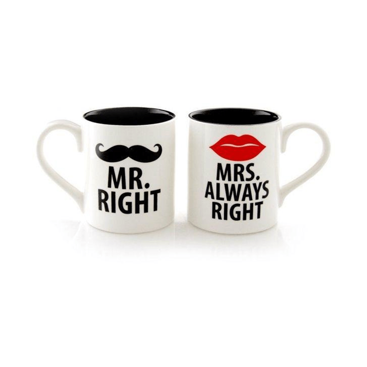 Mr Right  & Mrs Always RightTwo-tone Couple Mug