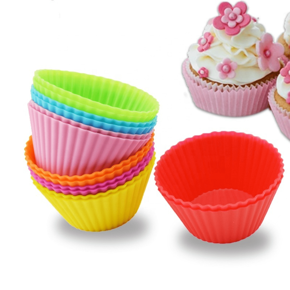 Reusable Silicone Baking Cups - Set of 12