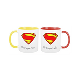 My Superman, My Superlady Inner Rim Couple Mugs