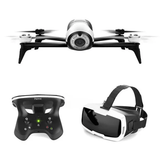 parrot bebop 2 drone white with remote control and vr box