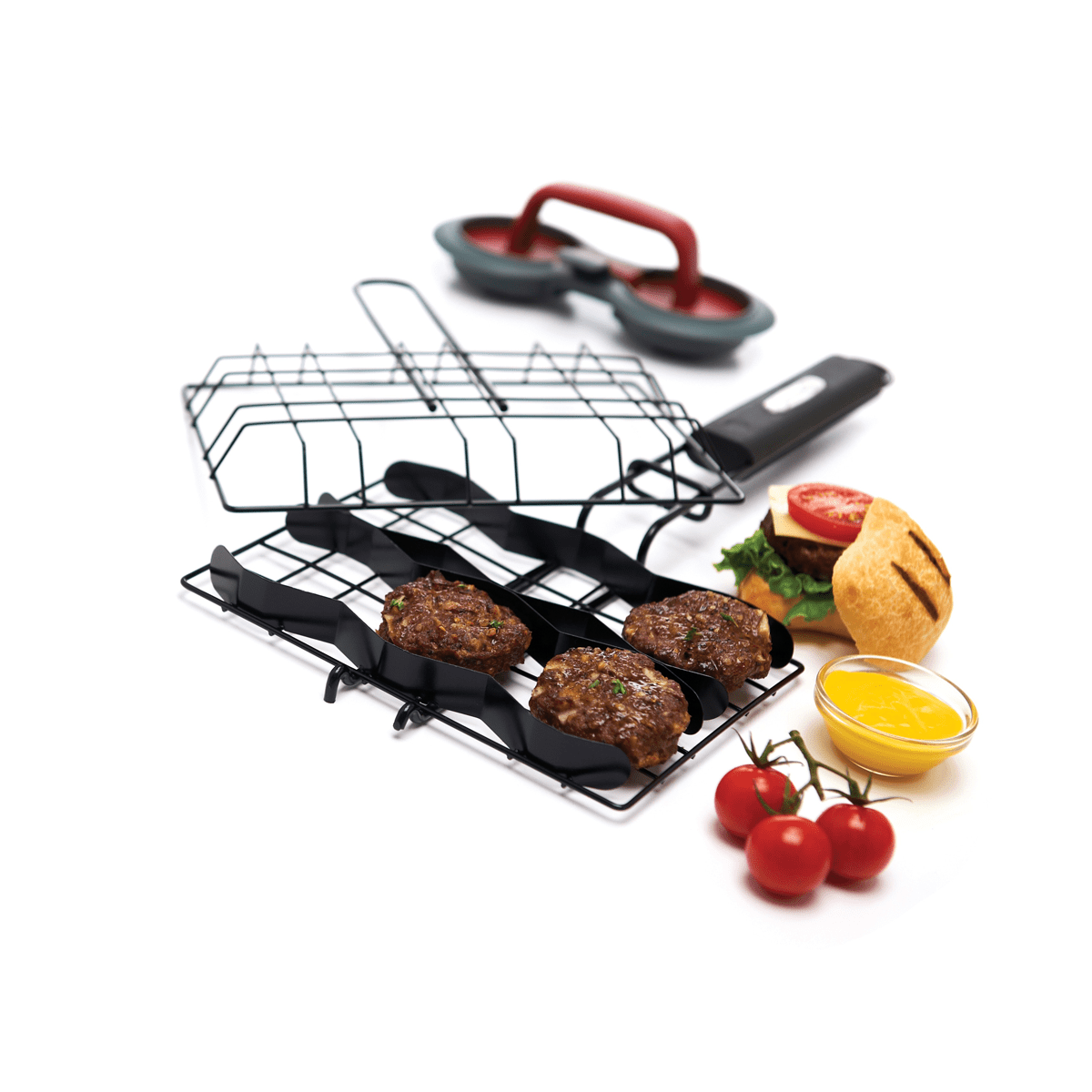 Grillpro 24790 Slider Burger Basket & Burger Press