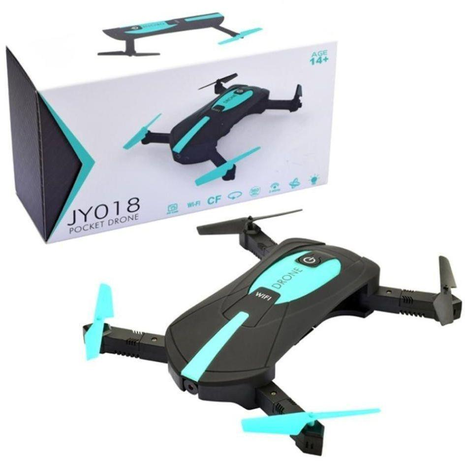 mini pocket drone with camera wifi blue and black with box