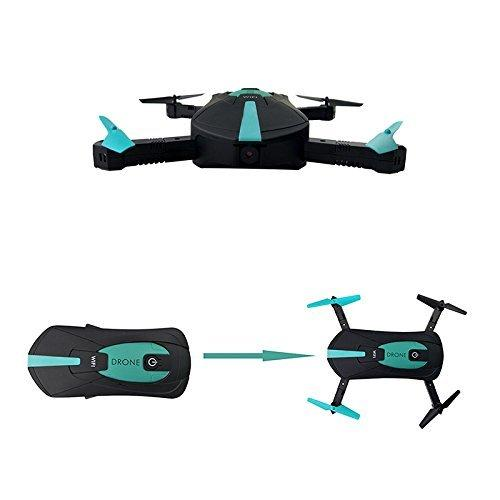 mini pocket drone with camera wifi blue and black with remote