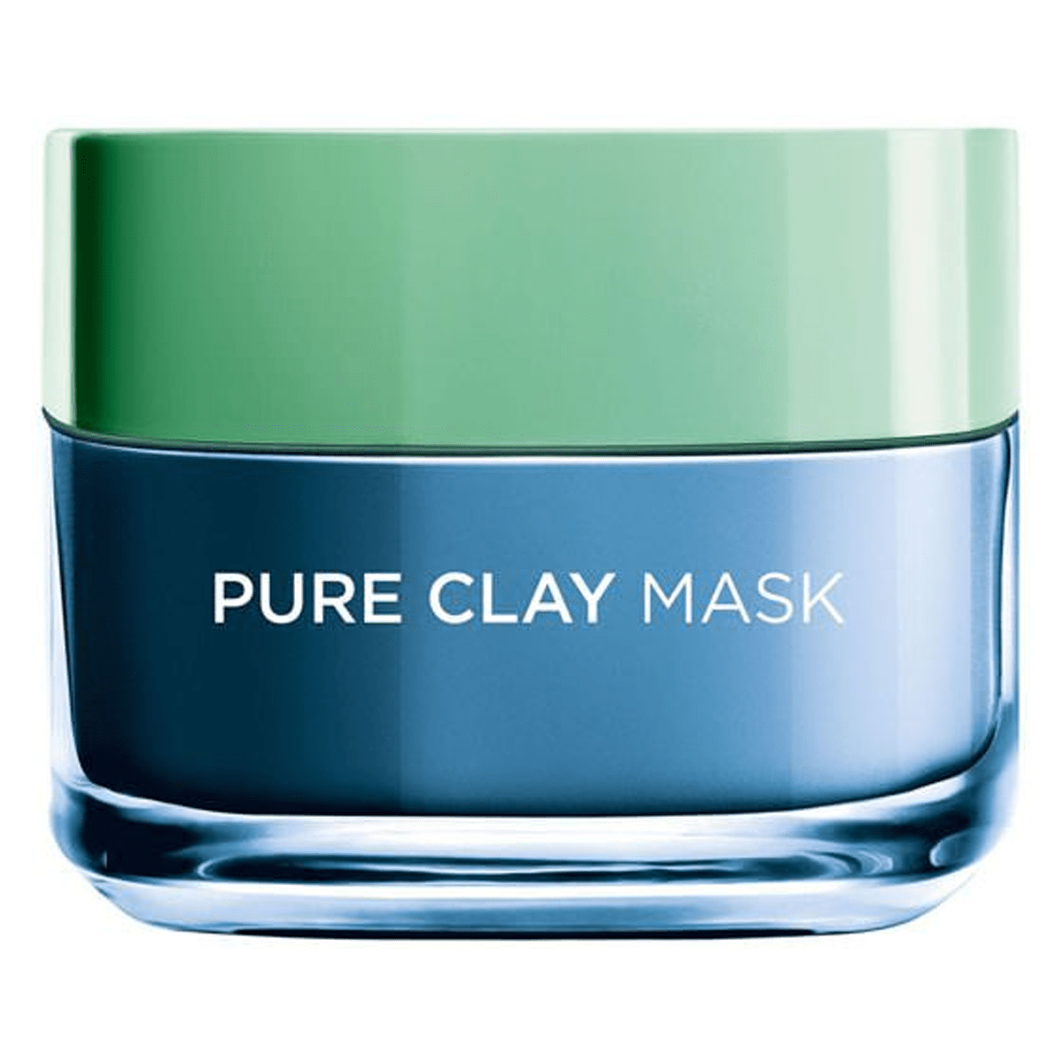L'Oreal Paris Pure Clay Blue Face Mask with Marine Algae, Clears blackheads and Shrink pores, 50 m