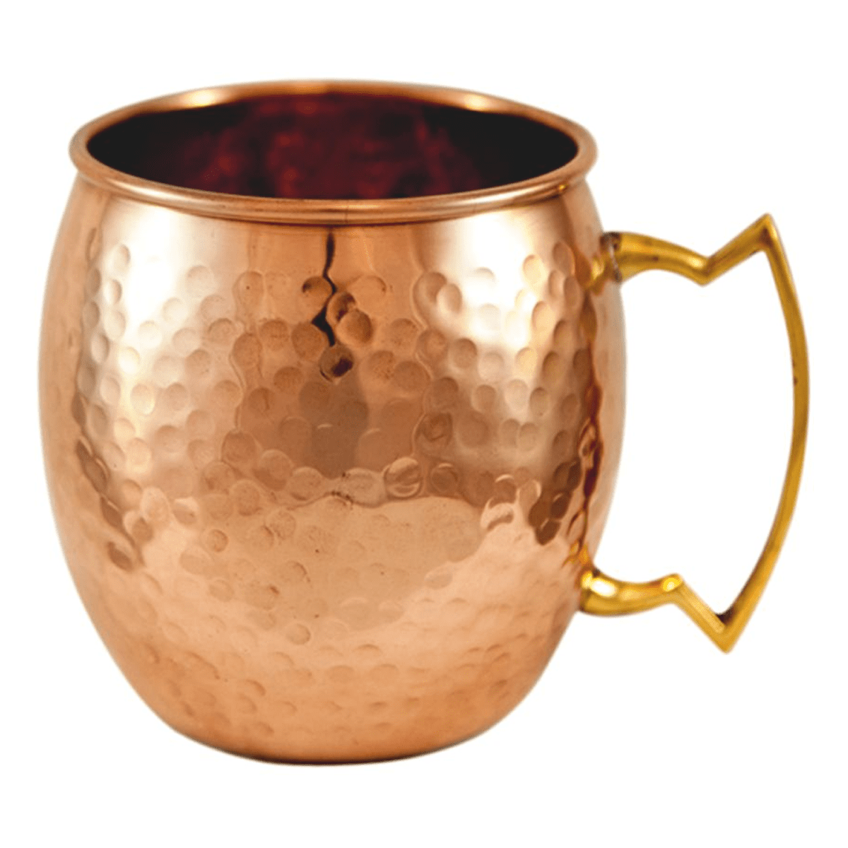 SQUARE Copper Hammmered Mule Mug
